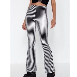 NWOT Nasty gal striped flared pants